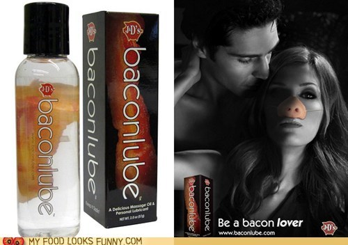 Ad bacon joke lube nose reality - 5443621888