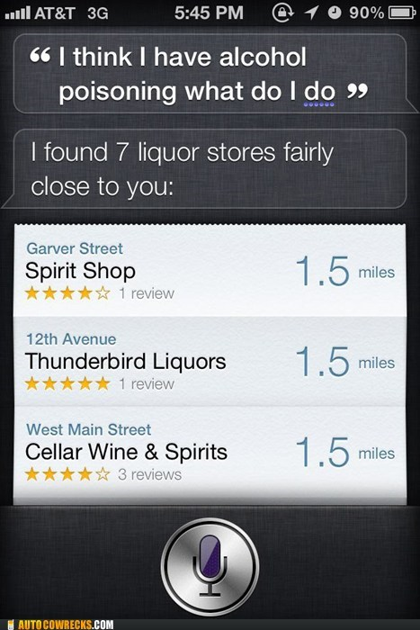 alcohol,alcohol poisoning,drinking,liquor stores,siri