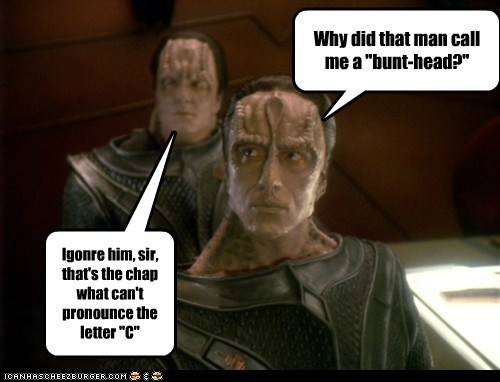 cardassians monty python name calling pronounce Star Trek