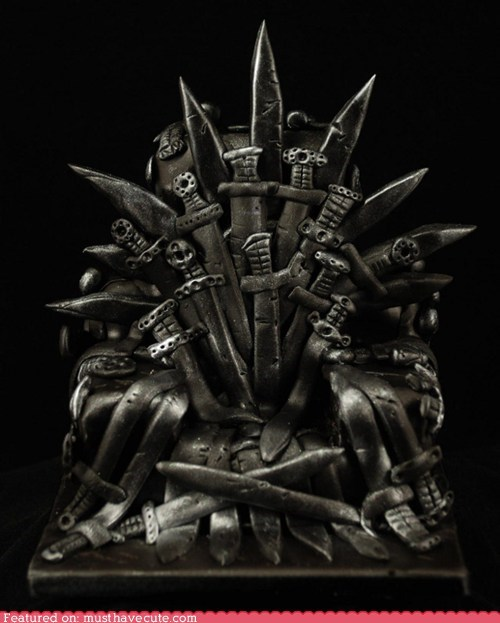 best of the week cake epicute fondant Game of Thrones iron throne - 5443680256