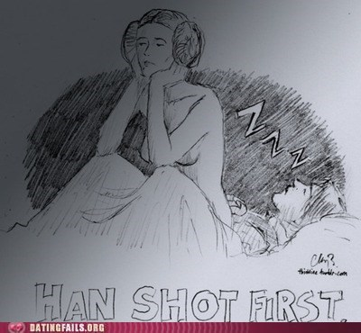 drawing,han shot first,Han Solo,premature ejaculation,star wars,We Are Dating