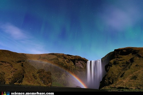 light moon physics space rainbow waterfall - 5443738112