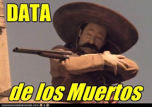 brent spiner data dia de los muertos Mexican spanish Star Trek - 5443750144