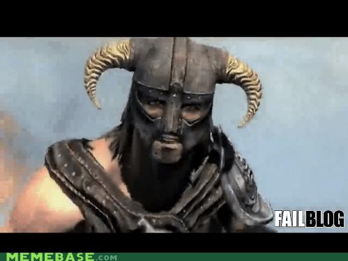 FAIL fus ro dah Memes Skyrim video games - 5443777536