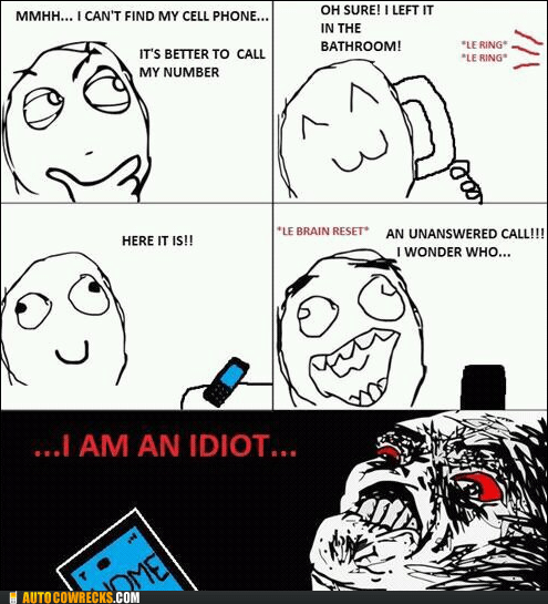 comic lost missed call rage comic - 5443936512