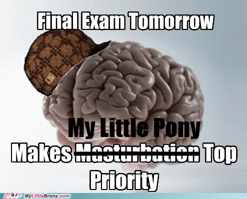 fixed meme my little pony scumbag brain top priority - 5443958784