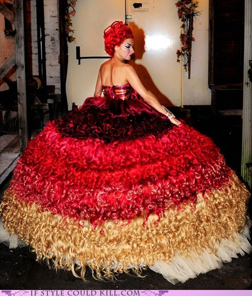 cool accessories hair human hair wedding dress wedding gown - 5444037632