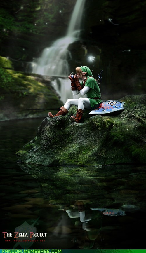 best of week,cosplay,cute,legend of zelda,link,ocarina of time,saria,video games