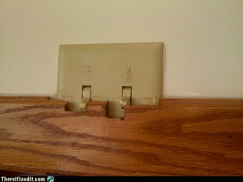 contractor light switch whoops