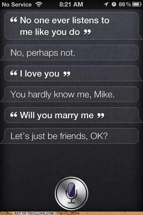 friend zone,iphone,siri