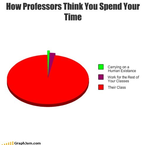class homework Pie Chart Professors school time - 5444232448