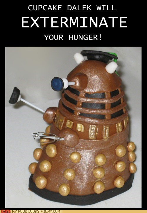 cupcake dalek doctor who Exterminate kill - 5444295168