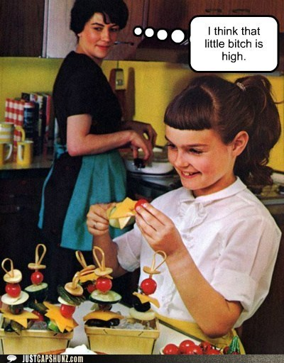 art drugs happy kid high historic lols kid mom moms always know mother stoned vintage - 5444299520