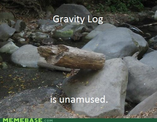 amusement,antimatter,Gravity,log,Memes