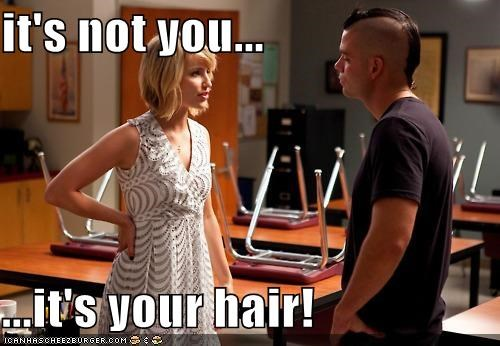 breakups,glee,hair,its-not-you,mark salling