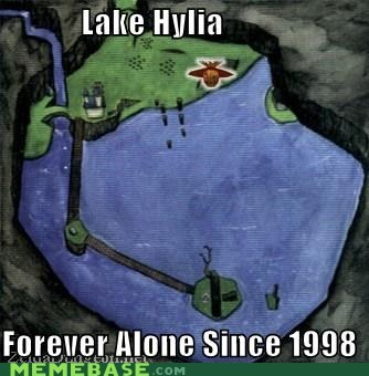 forever alone,hylia,lake,ocarina of time,video games,zelda