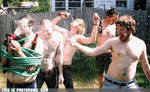 Awkward,bros,hose,oops,water
