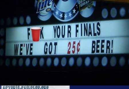 bar Economics exams finals Hall of Fame happy hour liquor store school special - 5444875008