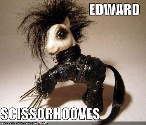 best of week,edward,Edward Scissorhands,galloping,pony,weird kid