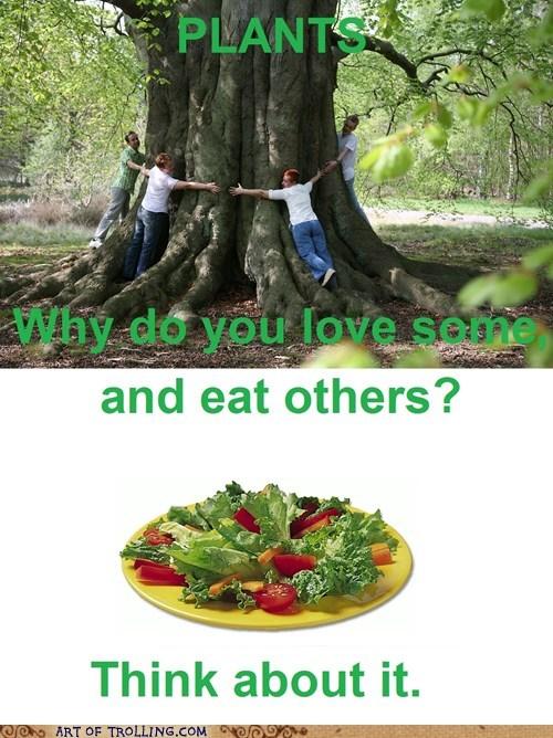 eat IRL love plants vegetarian