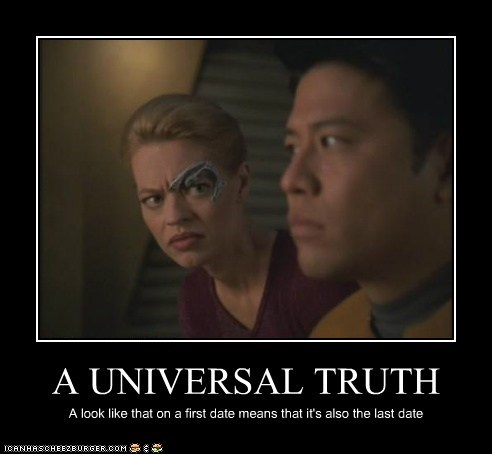 date harry kim jeri ryan seven of nine Star Trek universal truth voyager