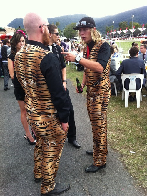 dude no way same outfit tiger suits - 5445540096