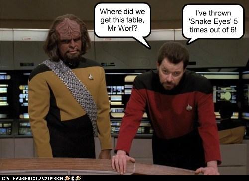 gambling Jonathan Frakes Michael Dorn Star Trek william riker Worf - 5445584640