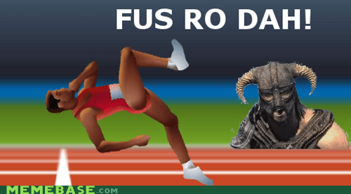 fus ro dah QWOP Sad Skyrim the room video games - 5445610752