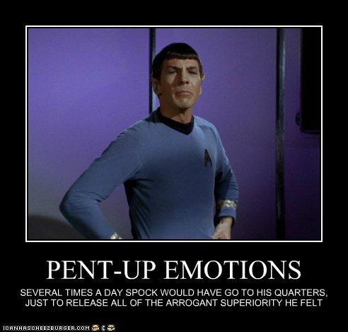 arrogant emotions Leonard Nimoy Spock Star Trek superiority
