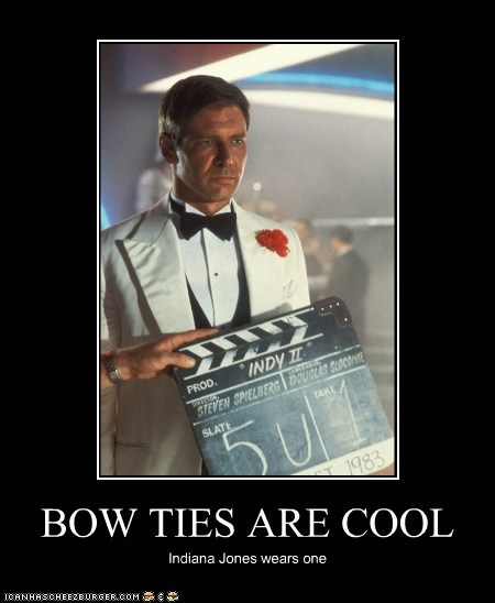 bow ties,bow ties are cool,Harrison Ford,Indiana Jones