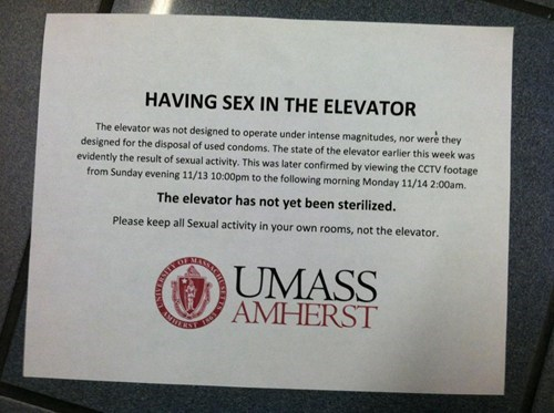 college elevator sex in the elevator sign warning We Are Dating - 5445757184