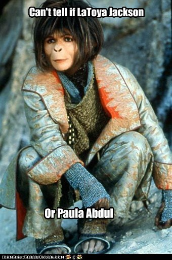 cant tell if helena bonham-carter latoya jackson paula abdul Planet of the Apes ugly - 5445859584