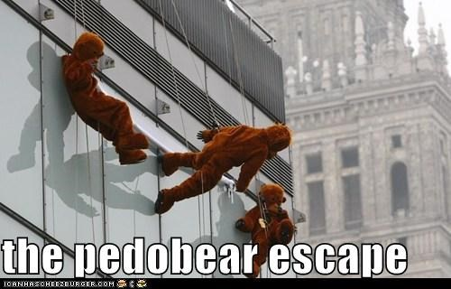 bear costume,costume,pedobear,pedobear escape,wtf