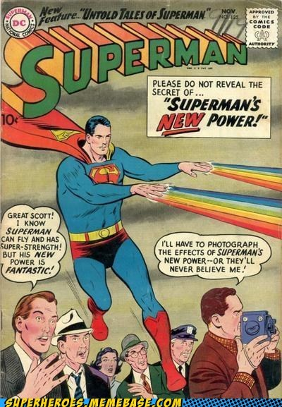 powers rainbow refracting light Straight off the Page superman - 5446367232