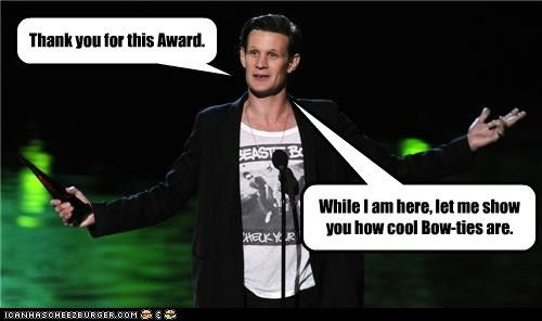 award,bow ties are cool,doctor who,Matt Smith,the doctor