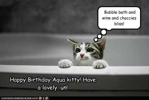 Happy Birthday Aqua kitty! Have  a lovely  un!