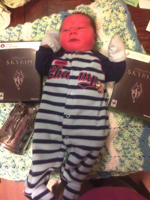 baby bethesda contest dovahkiin dragonborn Nerd News video games - 5446785536
