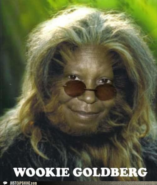 actors,actresses,chewbacca,whoopi goldberg,wookie goldberg