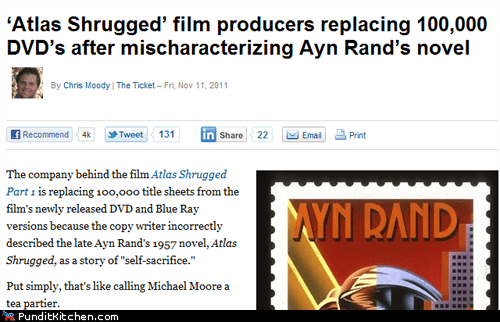 Atlas Shrugged Ayn Rand DVD political pictures recall - 5447217408