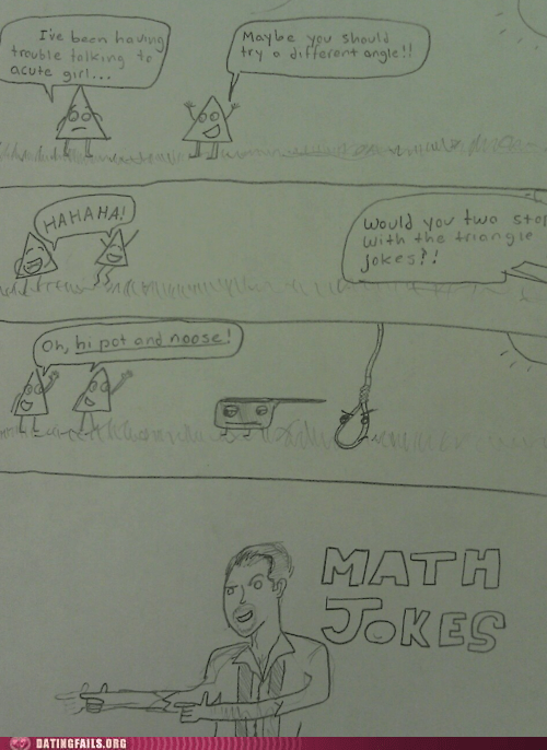 comic,math,math jokes,puns,triangles,We Are Dating