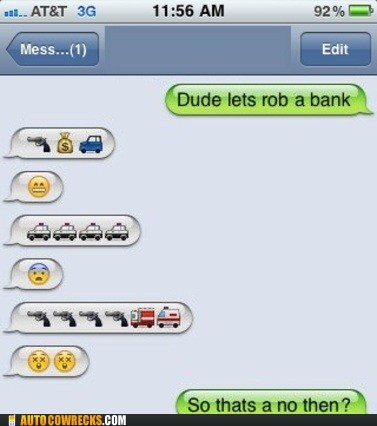crime emoticons rob a bank robbery