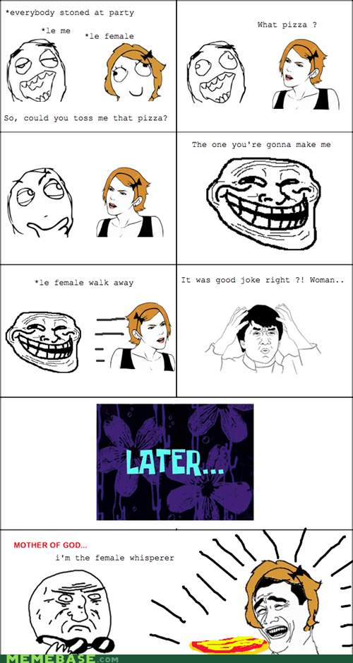 pizza Rage Comics troll women - 5447590656