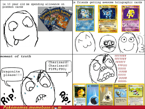 fuuuu,moment of truth,pokemon cards,porygon,rage comic,Rage Comics,those were the days
