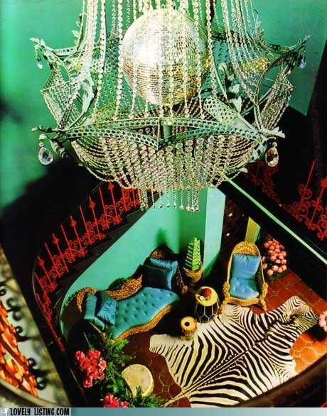 chandelier disco ball rich zebra