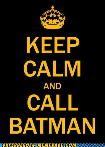 batman calm poster Random Heroics - 5447876608