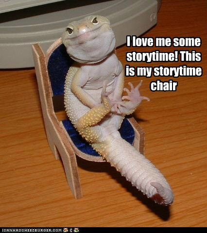 I love me some storytime! This is my storytime chair