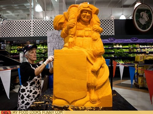 art carved cheese sculpture - 5447901440