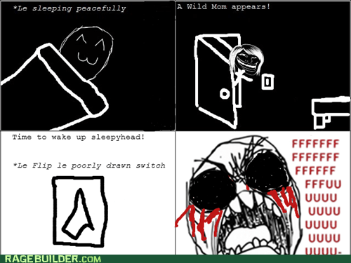 lights,mom,Rage Comics,sleep