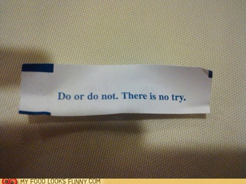 best of the week,fortune,fortune cookie,star wars,try,yoda