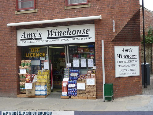 amy winehouse booze Hall of Fame insensitive liquor store lol nope pun too soon you should be ashamed - 5448054016